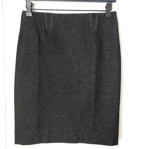 VINCE black grey pencil skirt stretch size 4